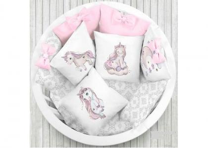 Комплект в кроватку  Единорог (6 предметов) Луняшки