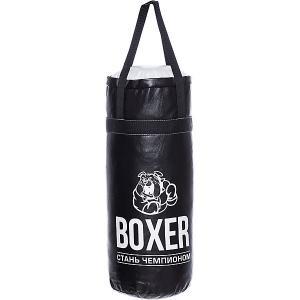Набор для бокса Боксер 3, 50 см, черный Лидер. Цвет: черный