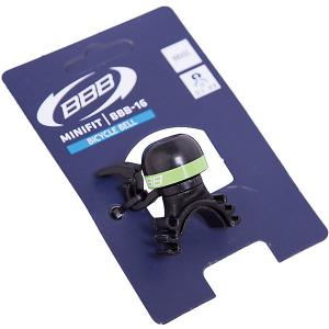 Звонок MiniFit  черный/зеленый, BBB
