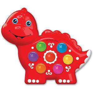 Музыкальная игрушка  Веселушки Динозаврик Азбукварик. Цвет: разноцветный