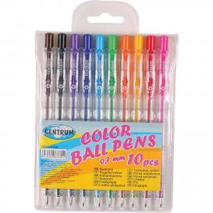 Набор 10 цветных шариковых ручек 0,7 мм CENTRUM
