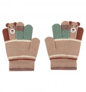 Перчатки , цвет: коричневый Bony Kids