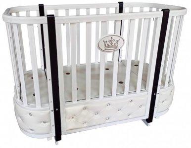 Кроватка-трансформер  Estelle Elegance 4 автостенка (поперечный маятник) Кедр
