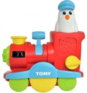 Игрушка для ванной  Веселый паровозик с мыльными пузырями Tomy