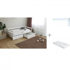 Подростковая кровать  тахта Р425 с бортиком на кроватку Р423 и матрасом Incanto UOMO CHC Можга (Красная Звезда)