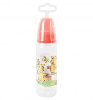 Бутылочка  с силиконовой соской полипропилен рождения, 250 мл, цвет: розовый Мир Детства