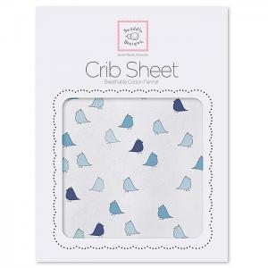 Простынь детская на резинке Fitted Crib Sheet 132х71х20 SwaddleDesigns