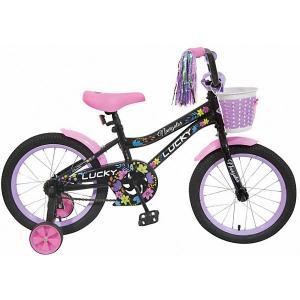 Двухколесный велосипед  Lucky 16 Navigator. Цвет: разноцветный