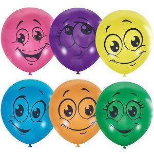 Воздушные шары  Улыбки 50 шт., пастель + декоратор (шёлк) Latex Occidental