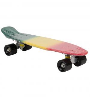Скейтборд  S-2206F, цвет: reggae Leader Kids