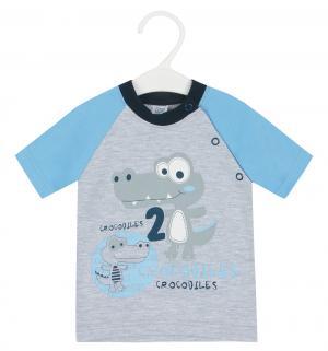 Комплект футболка/брюки  Croc, цвет: голубой/серый Aga