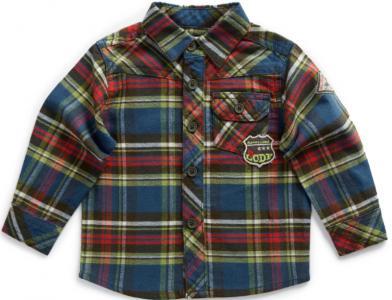 Рубашка La Compagnie des Petits. Цвет: синий