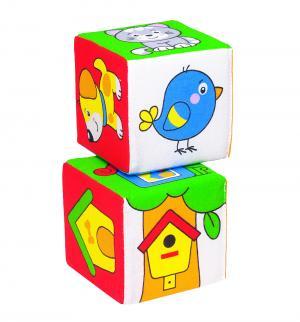 Кубики  Чей домик?, 8 см Мякиши