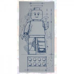 Полотенце Iconic Sketch 70х140 см Lego