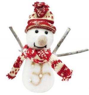 Фигурка  Снеговик в красном 19 см Новогодняя сказка