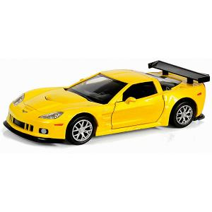 Коллекционная машинка  Chevrolet Corvette C6-R 1:32, желтый металлик RMZ City