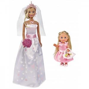 Куклы Штеффи и Еви Набор Свадебный день Simba