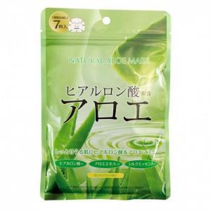 Маска для лица с экстрактом алоэ натуральная 7 шт. Japan Gals